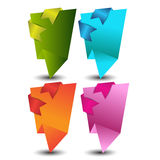 Origami web banners,labels,header or tags for your advertisement Royalty Free Stock Photos