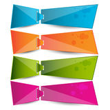 Origami web banners,labels,header or tags for your advertisement Stock Photos
