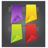 Origami web banners,labels,header or tags for your advertisement Royalty Free Stock Photo