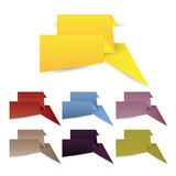 Origami web banners,labels,header or tags for your advertisement Royalty Free Stock Image