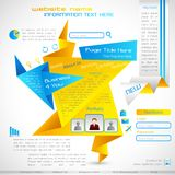 Origami Web Template Stock Images