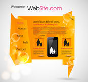 Origami Website design template Stock Image