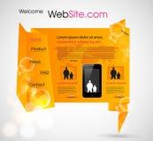 Origami Website design template Stock Image