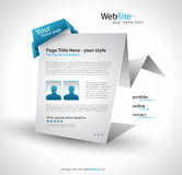 Origami Website - Elegant Design Stock Photography