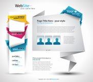 Origami Website Elegant Design Stock Images