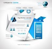 Origami Website - Elegant Design Stock Photos