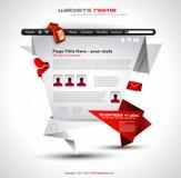 Origami Website - Elegant Design Royalty Free Stock Images