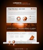 Origami Website - Elegant Design Royalty Free Stock Photos