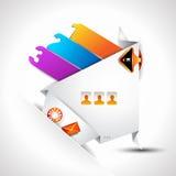 Origami Website - Elegant Design Stock Photo