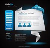 Origami Website - Elegant Design for Business Royalty Free Stock Images