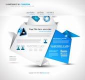 Origami Website - Elegant Design Business Stock Photography