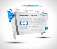 Origami Website - Elegant Design for Business Stock Photography