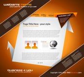 Origami Website - Elegant Design for Business Royalty Free Stock Photos