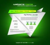 Origami Website - Elegant Design for Business Stock Image