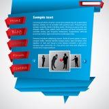Origami website template Stock Image