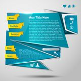 Origami website template Royalty Free Stock Image