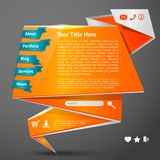 Origami website template Stock Photos