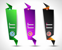 Origami Website vertical login form panels Stock Photo