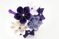 Origami wedding paper bouquet Royalty Free Stock Photo