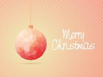 Origami-Weihnachtsball für Weihnachtsfeier stock abbildung