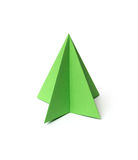 Origami-Weihnachtsbaum Stockbild