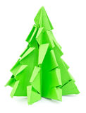Origami-Weihnachtsbaum lokalisiert Stockfoto
