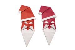Origami Weihnachtsmann Lizenzfreie Stockfotos