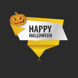 Origami Wektorowy infographic kolorowy sztandar szczęśliwego halloween Zdjęcia Royalty Free