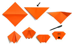 Origami Welpe Stockbild