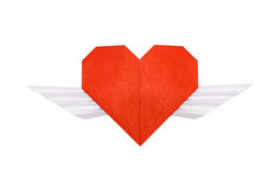 Origami winged heart Stock Photo