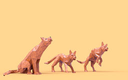 Origami Wolf Low Poly Stock Photography