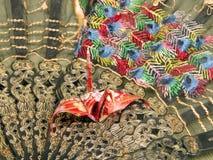 Origami y ventilador Imagen de archivo libre de regalías