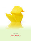 Origami yellow duckling Royalty Free Stock Photos