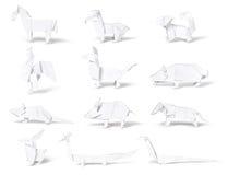 Origami, zodiaco del cinese della carta Fotografia Stock Libera da Diritti