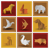 Origami zwierzęta Obraz Stock