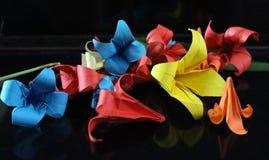 Origamibloemen royalty-vrije stock fotografie