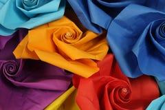 Origamiblommabakgrunden Royaltyfri Fotografi