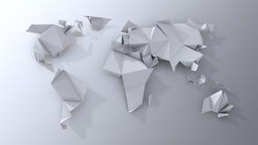 Origamicontinenten het scrapbooking. Stock Foto's