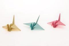 Origamidieren en voorwerpen Stock Afbeeldingen