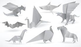 Origamidieren (zwart & wit) vector illustratie