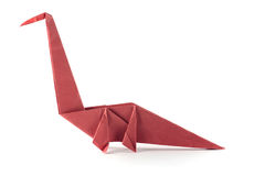 Origamidinosaurierovfågel som isoleras på vit bakgrund royaltyfri foto