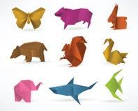Origamidjur royaltyfri illustrationer