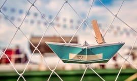 Origamidocument Boten Stock Fotografie