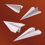 Origamidocument vliegtuig Stock Fotografie