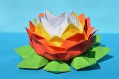 origamidocument waterlelie Stock Afbeelding