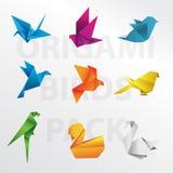 Origamifågelsamling vektor illustrationer