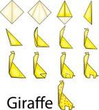 Origamigiraf Royalty-vrije Stock Foto's