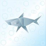 Origamihaifisch Lizenzfreie Stockfotografie