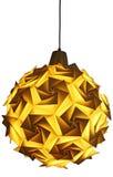 Origamilampe lokalisiert Lizenzfreies Stockfoto