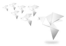 Origamin skyler över brister fågeln Royaltyfri Foto